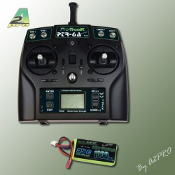 6-Channel 2.4Ghz RC System V2 + Lipo battery 1000mA / 2S