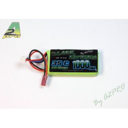 Black Lithium 1000mAh 35C 2S Bec - Pour hélicos Nine Eagle