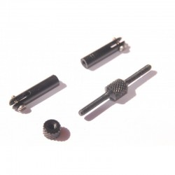 Screw and nut for profile 3mm stainless steel boom